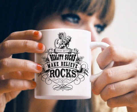 Girl with Fates Motto Cup