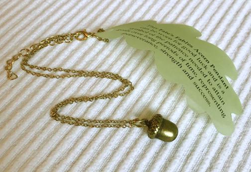 single acorn necklace